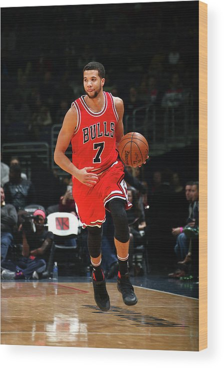 Nba Pro Basketball Wood Print featuring the photograph Michael Carter-williams by Ned Dishman