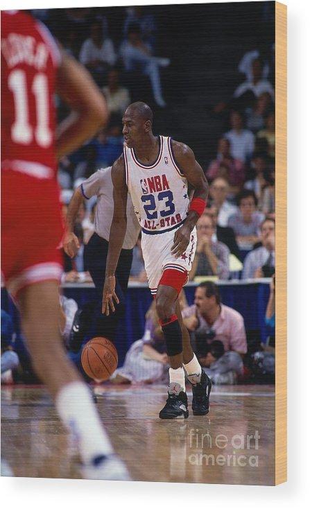 Nba Pro Basketball Wood Print featuring the photograph Michael Jordan by Nathaniel S. Butler
