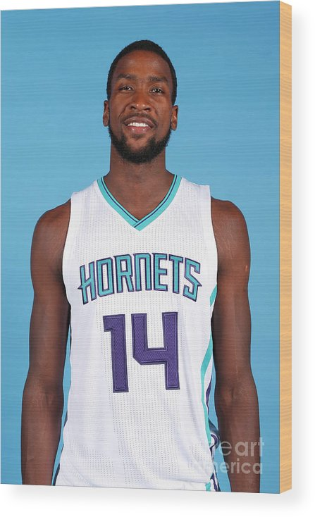 Media Day Wood Print featuring the photograph Michael Kidd-gilchrist by Brock Williams-smith