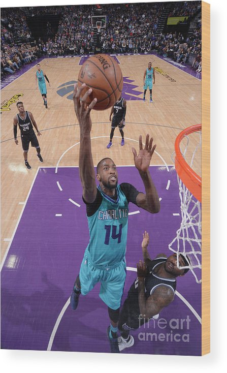 Nba Pro Basketball Wood Print featuring the photograph Michael Kidd-gilchrist by Rocky Widner