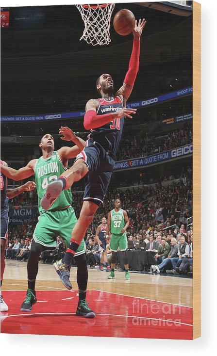 Nba Pro Basketball Wood Print featuring the photograph Mike Scott by Ned Dishman