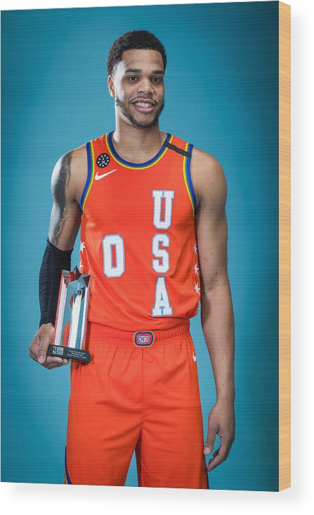 Nba Pro Basketball Wood Print featuring the photograph NBA Rising Stars Challenge by Michael J. LeBrecht II