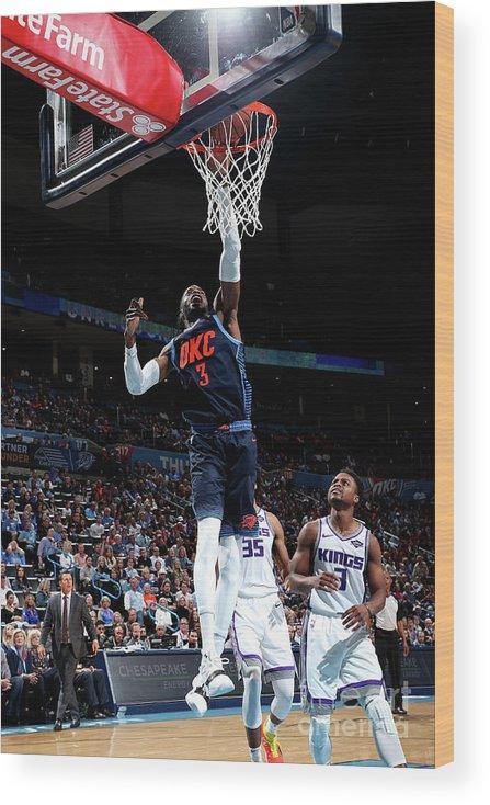 Nba Pro Basketball Wood Print featuring the photograph Nerlens Noel by Joe Murphy