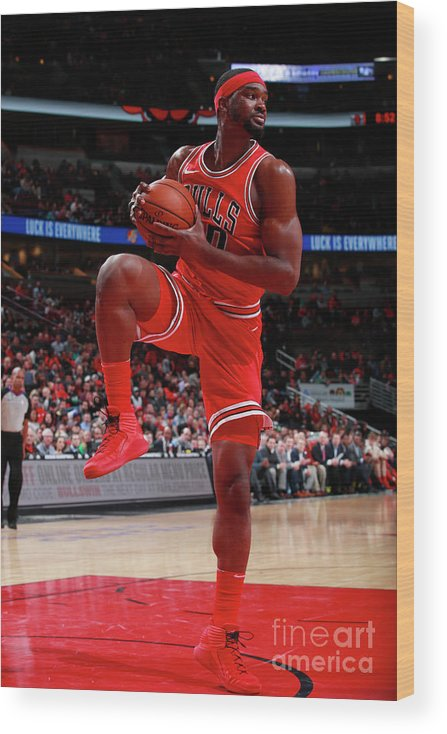 Nba Pro Basketball Wood Print featuring the photograph Noah Vonleh by Jeff Haynes