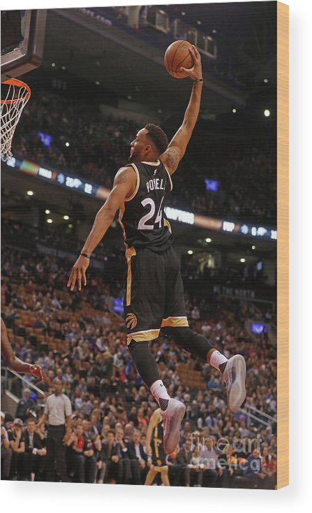 Nba Pro Basketball Wood Print featuring the photograph Norman Powell by Mark Blinch