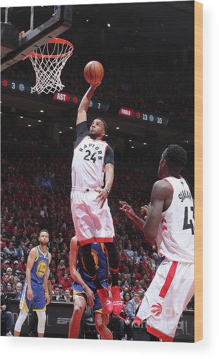 Playoffs Wood Print featuring the photograph Norman Powell by Nathaniel S. Butler