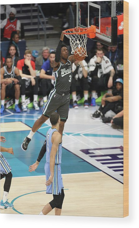 Nba Pro Basketball Wood Print featuring the photograph Og Anunoby by Kent Smith