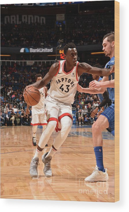 Nba Pro Basketball Wood Print featuring the photograph Pascal Siakam by Gary Bassing