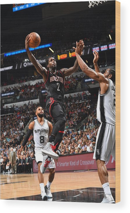 Playoffs Wood Print featuring the photograph Patrick Beverley by Jesse D. Garrabrant