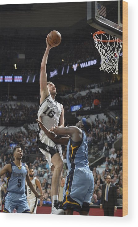 Playoffs Wood Print featuring the photograph Pau Gasol by Mark Sobhani
