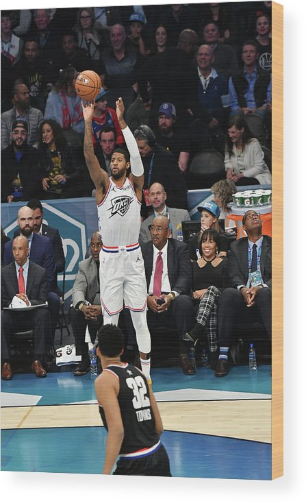 Nba Pro Basketball Wood Print featuring the photograph Paul George by Jesse D. Garrabrant