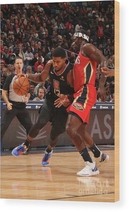 Smoothie King Center Wood Print featuring the photograph Paul George by Layne Murdoch Jr.