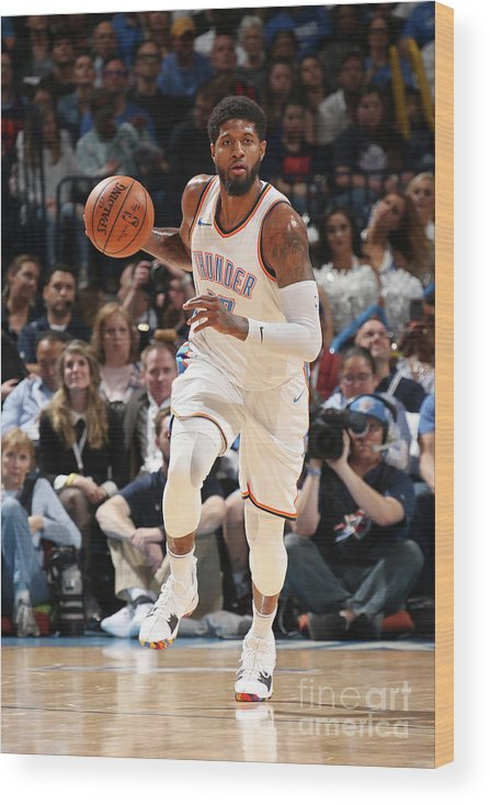 Sports Ball Wood Print featuring the photograph Paul George by Layne Murdoch