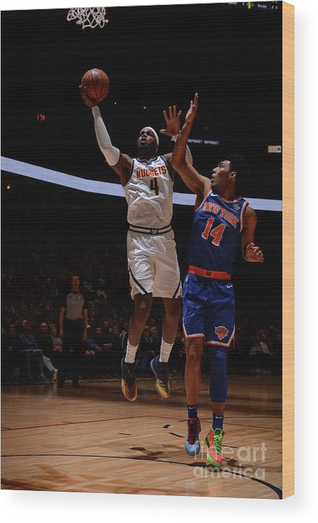 Nba Pro Basketball Wood Print featuring the photograph Paul Millsap by Bart Young