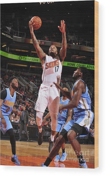 Nba Pro Basketball Wood Print featuring the photograph P.j. Tucker by Barry Gossage