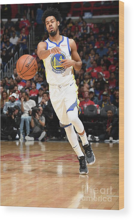 Playoffs Wood Print featuring the photograph Quinn Cook by Andrew D. Bernstein