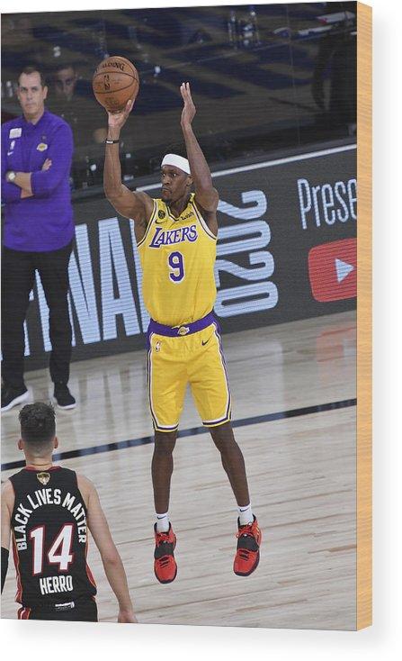 Playoffs Wood Print featuring the photograph Rajon Rondo by Fernando Medina