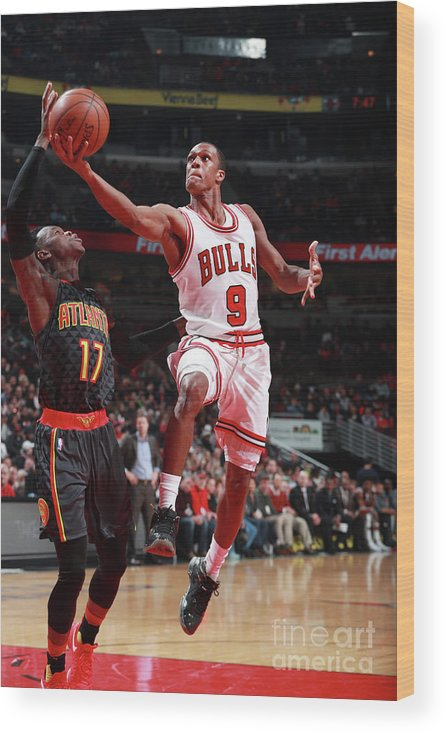 Nba Pro Basketball Wood Print featuring the photograph Rajon Rondo by Jeff Haynes