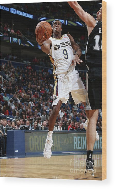 Smoothie King Center Wood Print featuring the photograph Rajon Rondo by Layne Murdoch Jr.