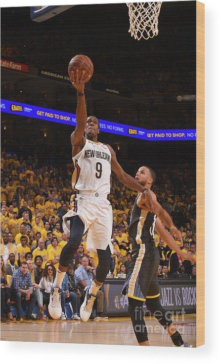 Playoffs Wood Print featuring the photograph Rajon Rondo by Noah Graham