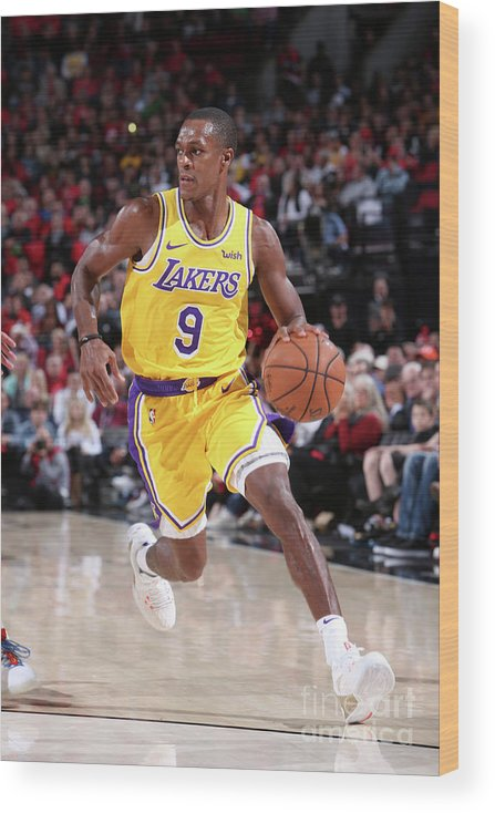 Nba Pro Basketball Wood Print featuring the photograph Rajon Rondo by Sam Forencich