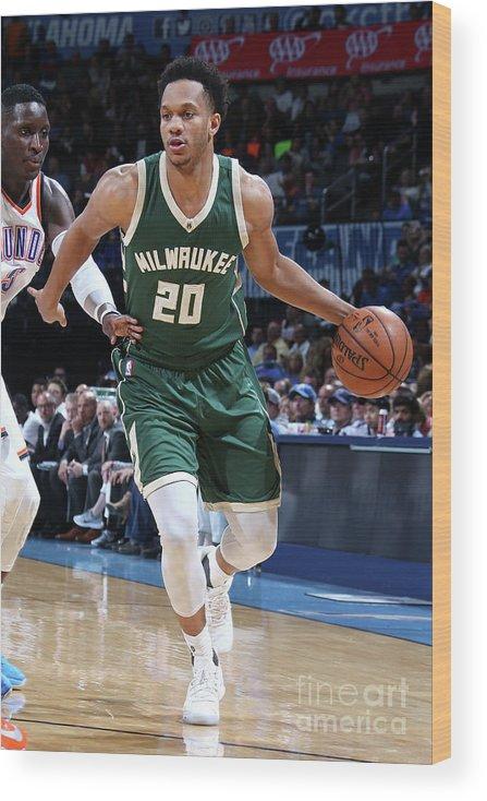 Nba Pro Basketball Wood Print featuring the photograph Rashad Vaughn by Layne Murdoch