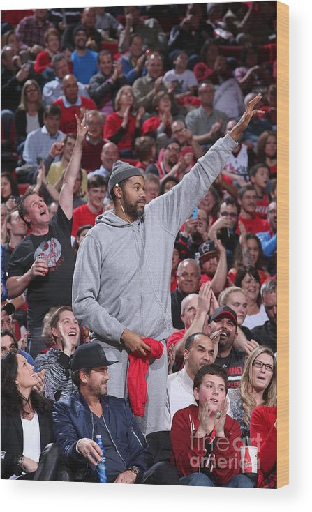 Nba Pro Basketball Wood Print featuring the photograph Rasheed Wallace by Sam Forencich