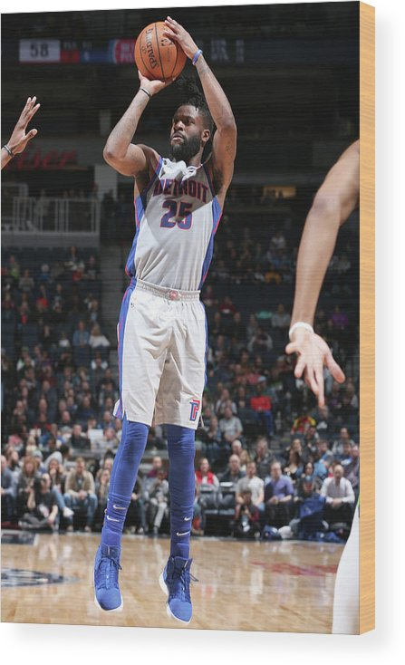 Nba Pro Basketball Wood Print featuring the photograph Reggie Bullock by David Sherman