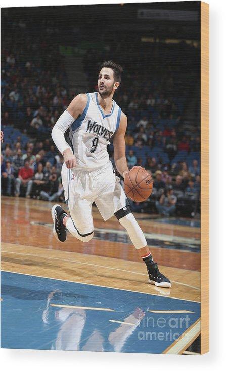 Nba Pro Basketball Wood Print featuring the photograph Ricky Rubio by David Sherman