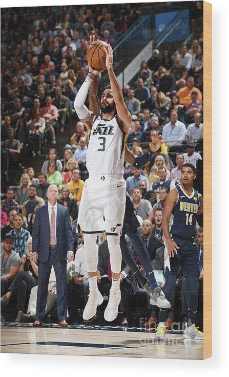 Nba Pro Basketball Wood Print featuring the photograph Ricky Rubio by Garrett Ellwood