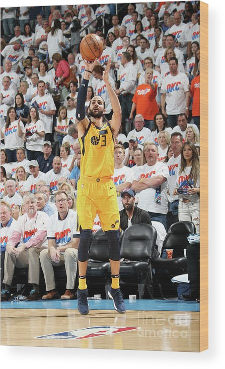 Playoffs Wood Print featuring the photograph Ricky Rubio by Layne Murdoch