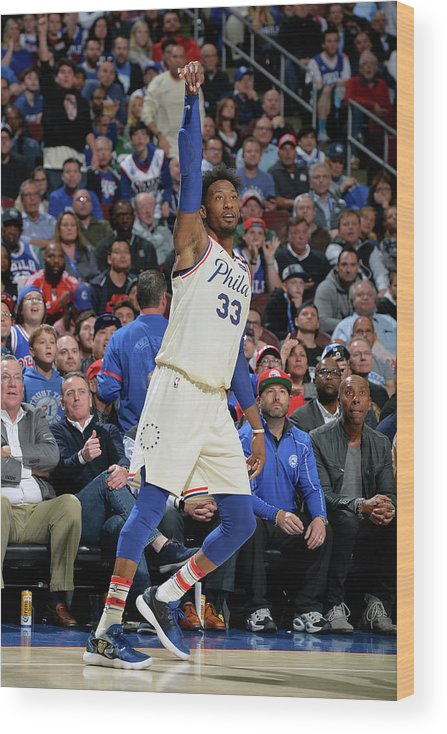 Playoffs Wood Print featuring the photograph Robert Covington by David Dow