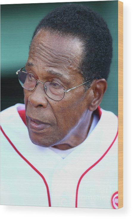 People Wood Print featuring the photograph Rod Carew by Maddie Meyer