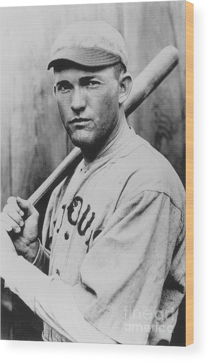 St. Louis Cardinals Wood Print featuring the photograph Rogers Hornsby by National Baseball Hall Of Fame Library