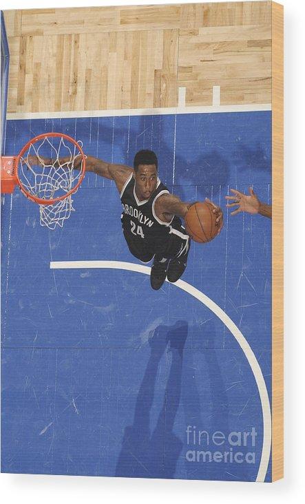 Nba Pro Basketball Wood Print featuring the photograph Rondae Hollis-jefferson by Fernando Medina