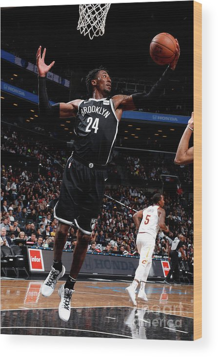 Nba Pro Basketball Wood Print featuring the photograph Rondae Hollis-jefferson by Nathaniel S. Butler