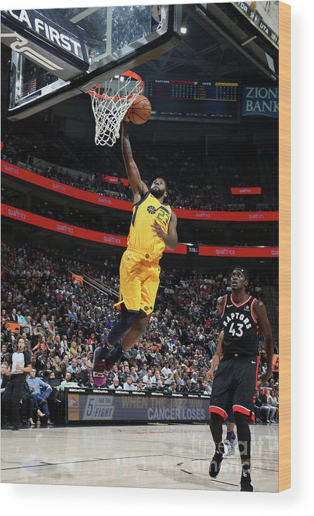 Nba Pro Basketball Wood Print featuring the photograph Royce O'neale by Melissa Majchrzak