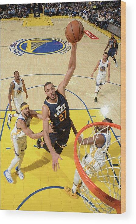 Nba Pro Basketball Wood Print featuring the photograph Rudy Gobert by Noah Graham