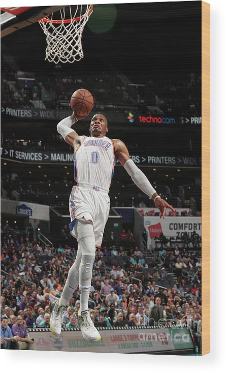 Nba Pro Basketball Wood Print featuring the photograph Russell Westbrook by Kent Smith