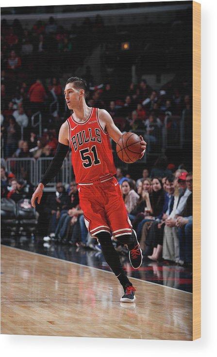 Nba Pro Basketball Wood Print featuring the photograph Ryan Arcidiacono by Jeff Haynes