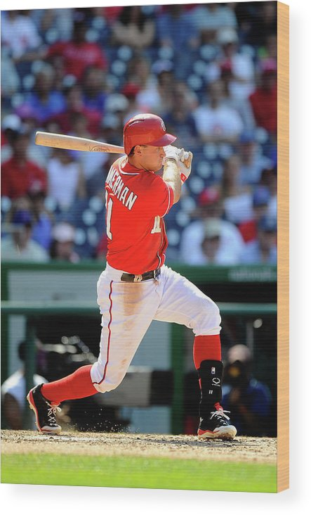 American League Baseball Wood Print featuring the photograph Ryan Zimmerman by Greg Fiume