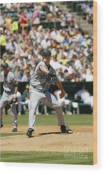 American League Baseball Wood Print featuring the photograph Scott Kazmir by Don Smith
