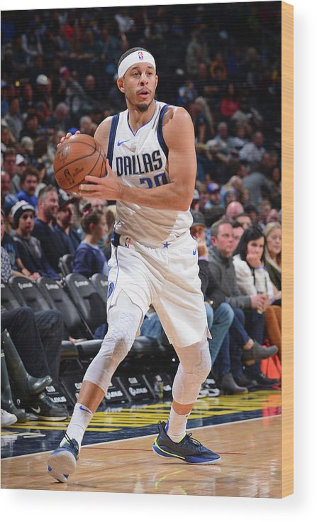 Nba Pro Basketball Wood Print featuring the photograph Seth Curry by Bart Young