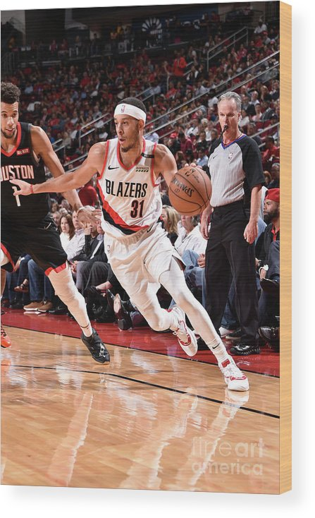 Nba Pro Basketball Wood Print featuring the photograph Seth Curry by Bill Baptist