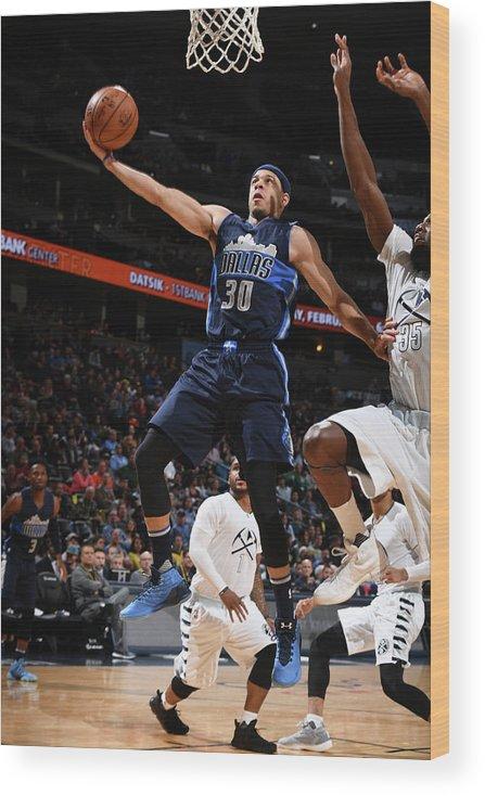 Nba Pro Basketball Wood Print featuring the photograph Seth Curry by Garrett Ellwood