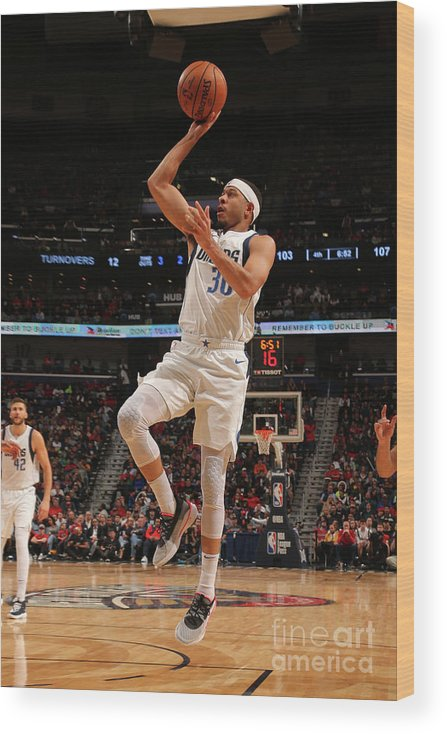 Smoothie King Center Wood Print featuring the photograph Seth Curry by Layne Murdoch Jr.