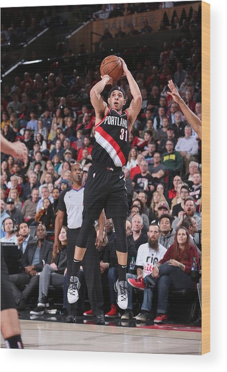 Nba Pro Basketball Wood Print featuring the photograph Seth Curry by Sam Forencich