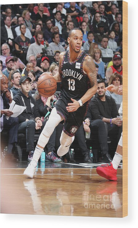 Nba Pro Basketball Wood Print featuring the photograph Shabazz Napier by Nathaniel S. Butler