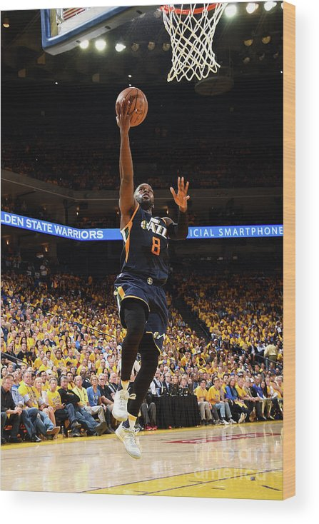 Playoffs Wood Print featuring the photograph Shelvin Mack by Andrew D. Bernstein