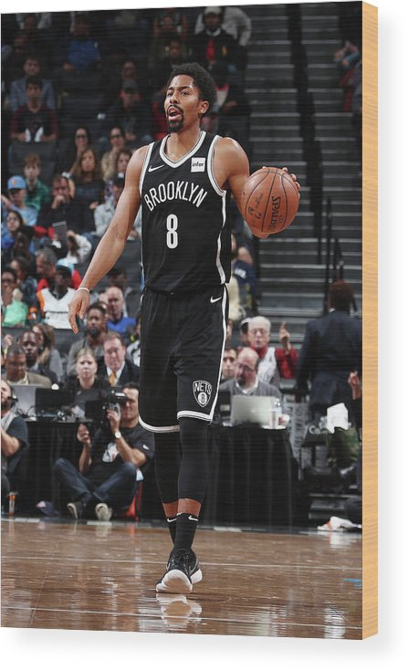 Sport Wood Print featuring the photograph Spencer Dinwiddie by Nathaniel S. Butler